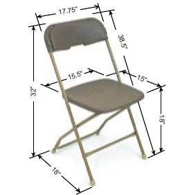 Chair Folding Ralph S General Rent All